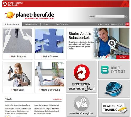 planet-beruf.de macht mobil: neue Optik und Inhalte