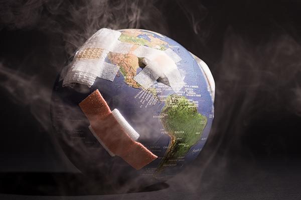 Die globalen CO2-Emissionen fallen